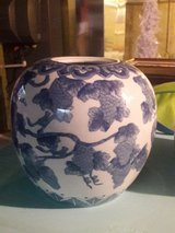 blue and white porcelain vase in St. Charles, Illinois