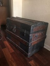 large antique trunk in Coldspring, Texas