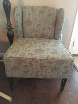 accent chair - teal/light blue and gold/brown in Kingwood, Texas