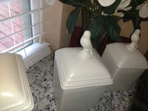 White Kitchen Canisters in Kingwood, Texas