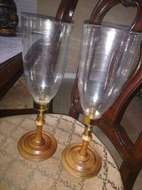 Vintage Candle stick Holders w Glass in Kingwood, Texas