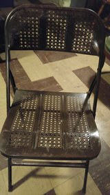 vintage metal folding chairs in Westmont, Illinois