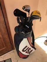 Clubs and USA Leather Bag in Okinawa, Japan