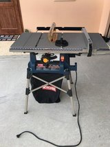 "Ryobi 10"" Table Saw w/folding quick stand in Okinawa, Japan"