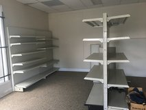 Metal shelving in Fort Campbell, Kentucky