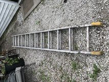 Older 18' Aluminum Extension Ladder in Oswego, Illinois