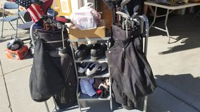 Golf clubs and stand in Travis AFB, California