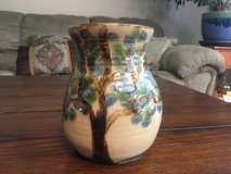 Janet Resnik Hand Made Pottery Vase Signed in Fort Campbell, Kentucky