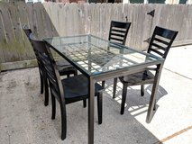 Glass & Iron table with chairs in Kingwood, Texas