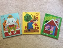 Three Vintage Playskool Wooden Tray Puzzles in Brookfield, Wisconsin