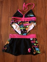 CLEARANCE ***Like New ADORABLE 3Piece Girls Swimsuit Set***SZ 6 6X in Cleveland, Texas