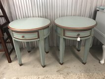 Large end tables blue and copper in Camp Lejeune, North Carolina