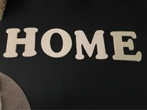 Wood letters for crafts:  spell out HOME in Joliet, Illinois