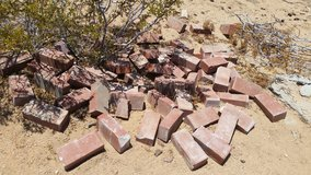 Red landscape brick in 29 Palms, California
