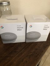 2 google home minis, new and unopened in Travis AFB, California