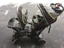 sit n stand double stroller baby trend in Shorewood, Illinois