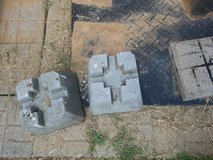 Concrete wood post holders in Fort Campbell, Kentucky