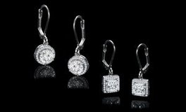 ***BRAND NEW***Halo Drop Earrings Set Made With Swarovski Stones*** in Kingwood, Texas