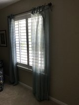 Semi-Sheer Spa Blue Curtains in The Woodlands, Texas
