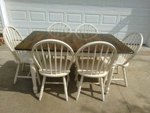 Solid Wood Table w 6 Windsor Chairs in Fort Campbell, Kentucky