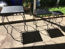 3 indoor outdoor tables all for $45 in Fort Riley, Kansas