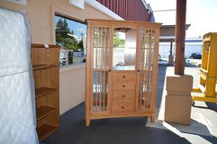 Mission Oak China Hutch in Tacoma, Washington