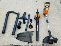 """REDUCED"" The WORX Trimmer,Edger Blower with ALL the attachments in Shorewood, Illinois"