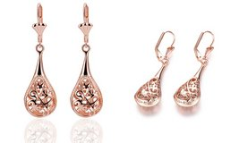 ***BRAND NEW***Rose Gold Antique Design Drop Earrings*** in Kingwood, Texas