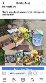 Free stuff at end of driveway in Westmont, Illinois