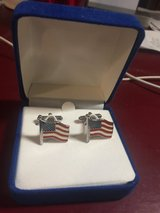 New Patriotic American Flag Cuff Links - New in Box in Chicago, Illinois