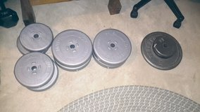 About 100 lbs of weights in Chicago, Illinois
