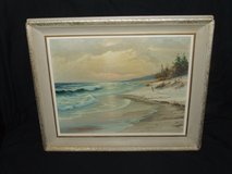 "Seascape ""Lonely Dunes"" Original Oil Painting by Sven Boris Neilsen of Naperville in Westmont, Illinois"