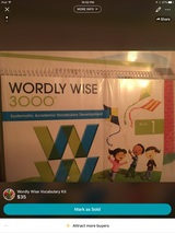 Wordly Wise Vocabulary Kit in Fort Campbell, Kentucky