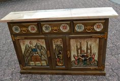Beautiful hand made dresser with removable marbel top in Wiesbaden, GE
