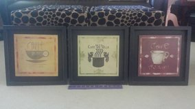 Set/3 Coffee-themed Prints in Bolingbrook, Illinois