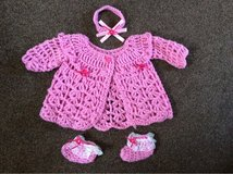 baby girls knitted set 0-6 months in Lakenheath, UK