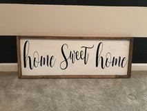 Homemade Home Sweet Home Sign in Fort Carson, Colorado