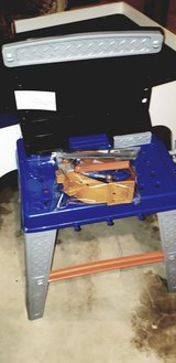 kids toy workbench and bag of tools in Naperville, Illinois