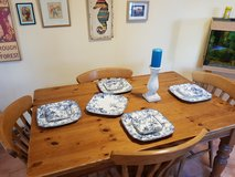 British farmhouse table and four chairs in Ramstein, Germany