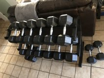 Dumbbell Set with Rack in Ramstein, Germany