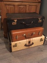 3 Vintage Suitcases in Shorewood, Illinois