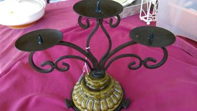 Wrought iron & ceramic candle holder in Warner Robins, Georgia