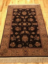 Authentic Persian Wool/Silk Area Rug 3x5 in Fort Riley, Kansas