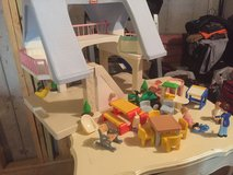 Little Tikes Doll House and 22 play pieces in Fort Leonard Wood, Missouri