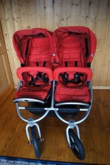 Double Stroller - Bumbleride Indie Twin Stroller - Excellent Condition in Ramstein, Germany