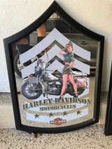 Harley Davidson bar mirror in Oceanside, California
