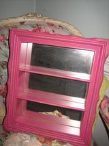 vintage pink mirror with shelves / shadow box in Naperville, Illinois