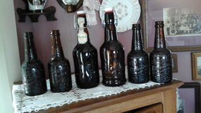 Vintage Amber Beer Bottles Grolsch & Mohr Bros. in Yorkville, Illinois