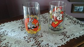 Vintage Drinking Glasses. Bugs Bunny & Alvin from the Chipmunks  Cartoon  Characters in Yorkville, Illinois