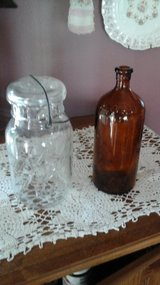 Antique  Vintage Ball Mason Jar w/Clorox  Bleach Bottle in Yorkville, Illinois
